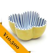 Jaime Hayon, KUTANI CHOEMON 小鉢 木瓜型 線文 黄彩