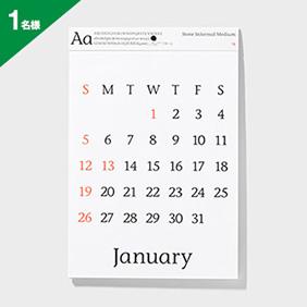 Takahiro Yasuda タイプフェイス カレンダー2014