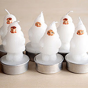 &K Amsterdam Snow Doll T-Lite Candle