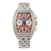 Franck Muller Tonneau-Shaped Automatic Chronograph Bracelet Watch