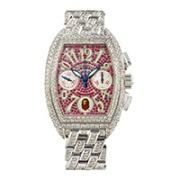 Franck Muller Tonneau-Shaped Automatic Chronograph Bracelet Watch